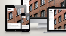 Webdesign responsive website met touch voor Dam Architecten