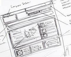 webdesign ontwerp schets